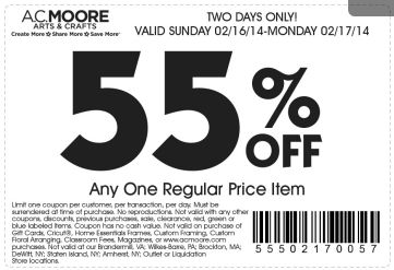 Michaels, Joanns, Hobby Lobby and AC Moore Coupons New Giveaway!