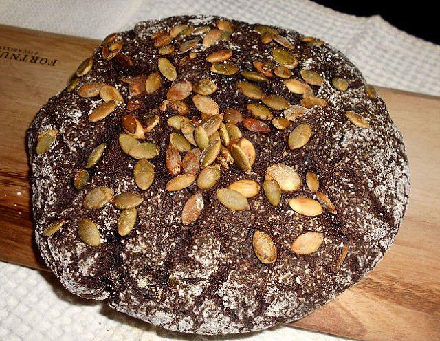 Coisas simples são a receita ...: Pão de aveia e alfarroba com sementes de abóbora