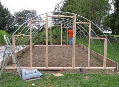 Create your own hoop house. Interesting for cold weather gardening.