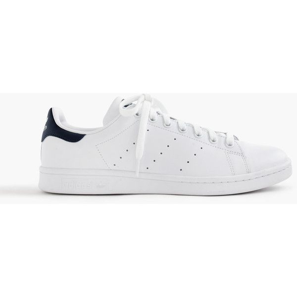 J.Crew Adidas® Stan Smith sneakers ($75) via Polyvore featuring men's fashion, men's shoes, men's sneakers, shoes, mens perforated shoes, j crew mens shoes, mens tennis shoes, mens tennis sneakers and mens fur lined shoes