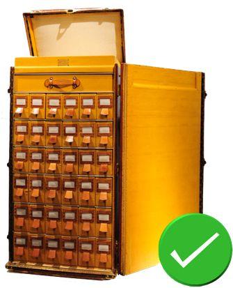 Guide d'achat malle de luxe - restauration trunk malle ancienne louis vuitton mauvaise restauration malle à chaussure authentique