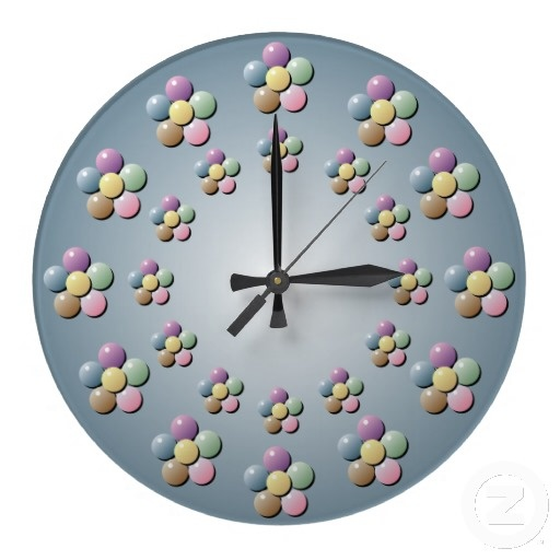 Bead Flower Wall Clock