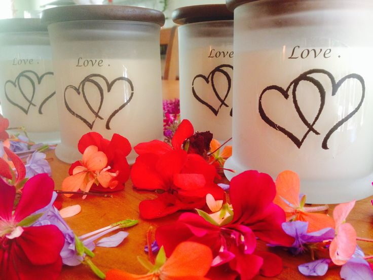 A Little Bit Of Luv .....    White Frosted Jars With Timber Lids ..  Scent Choice Here : Cherry Blossom and White Musk .   300gram Candles . $32.00   https://www.facebook.com/Perfect.scentz