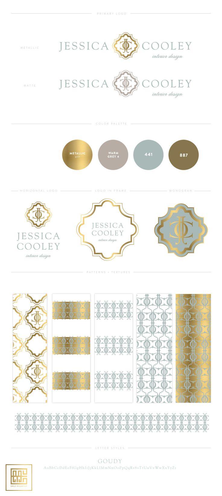 Emily McCarthy Branding | Jessica Cooley Interior Design Branding Board | www.emilymccarthy.com #branding