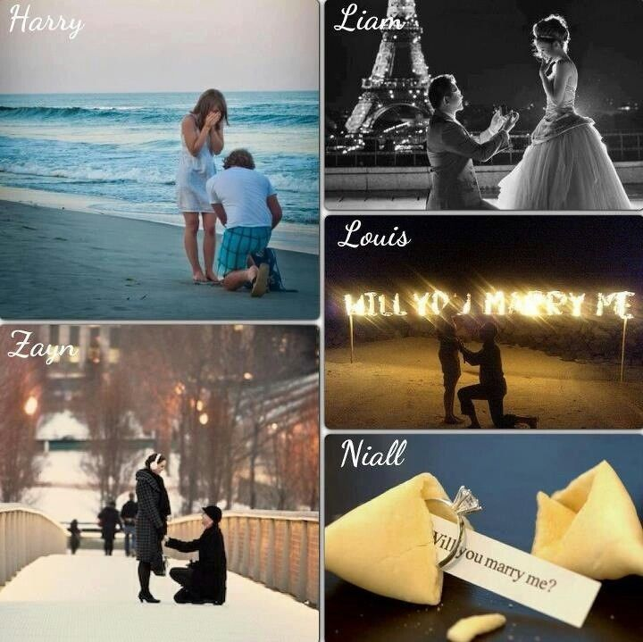 One Direction Preference - Proposals...which one's your favorite?