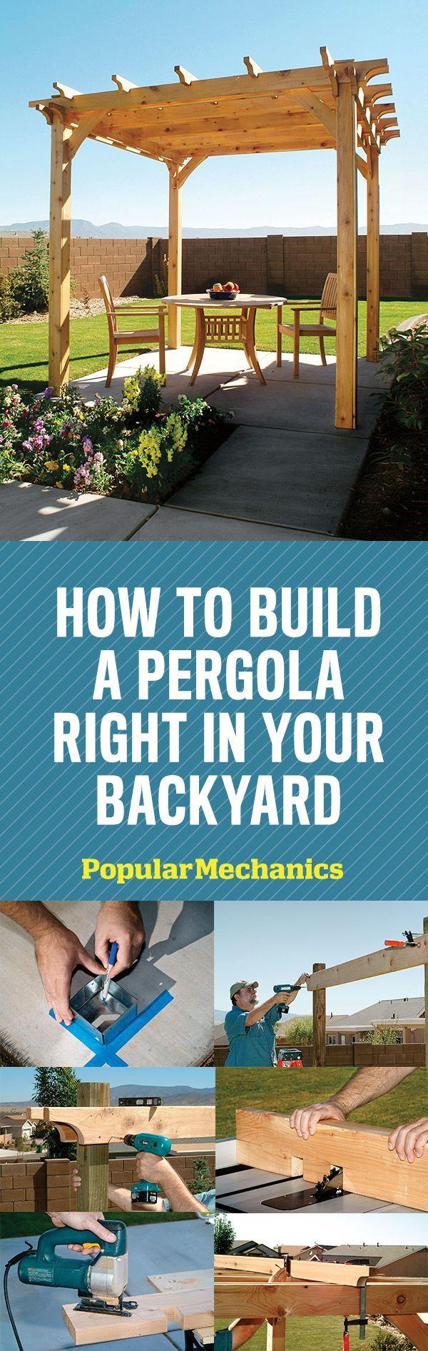 Pergola Plans:  How to Build Your Own Pergola