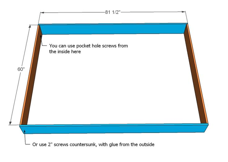 ana white build a much more than a chunky leg bed frame free and - Box Frame Bed