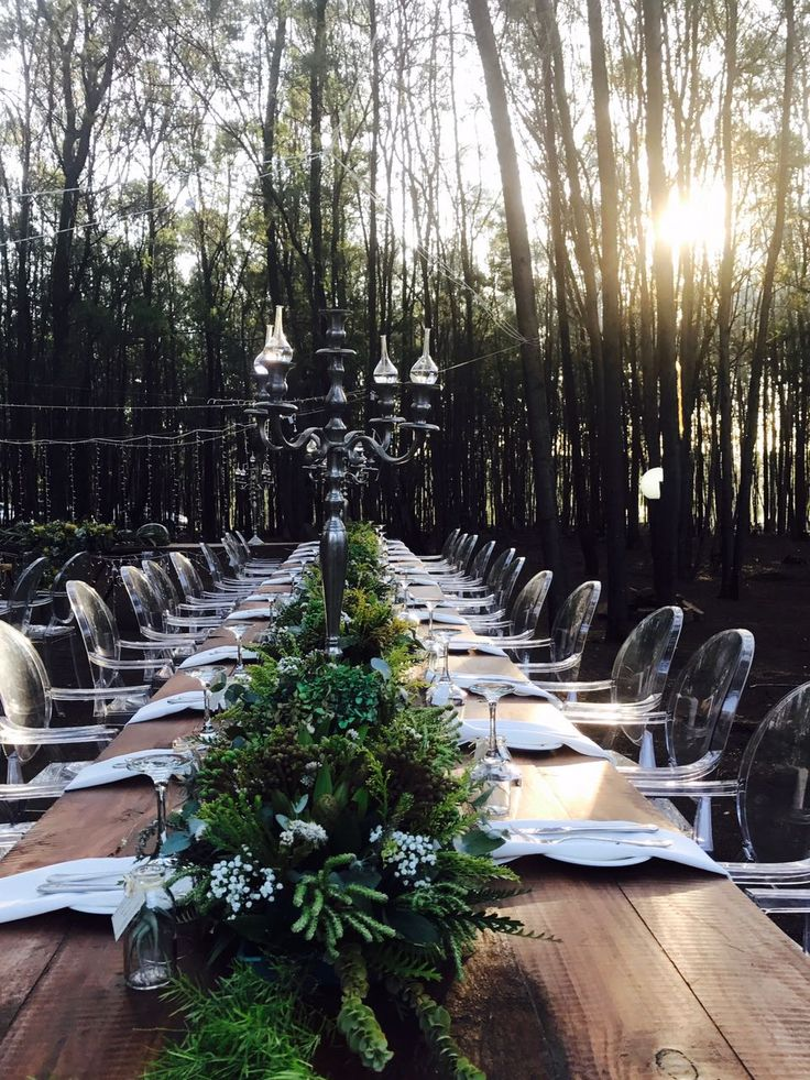 Annerie 's guest Tables - beautifully done by her grandmother
