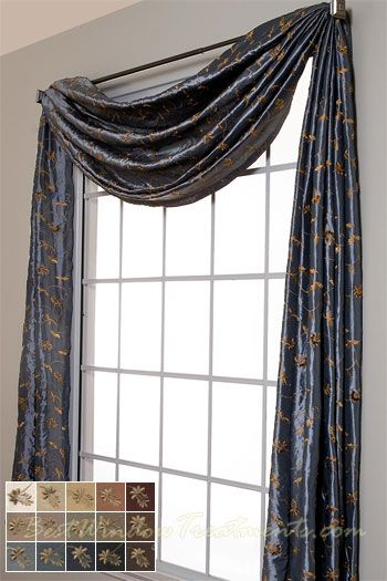 Belvedere Scarf Swag Window Topper In 14 Colors In 2019