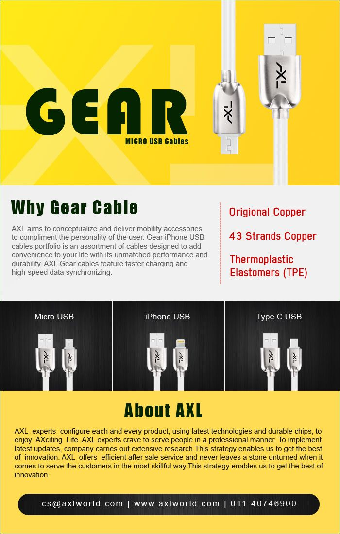 Visit website for all types of cable.