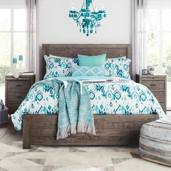 Get cozy at Urban Barn with this  Melbourne Bed -Bark Grey