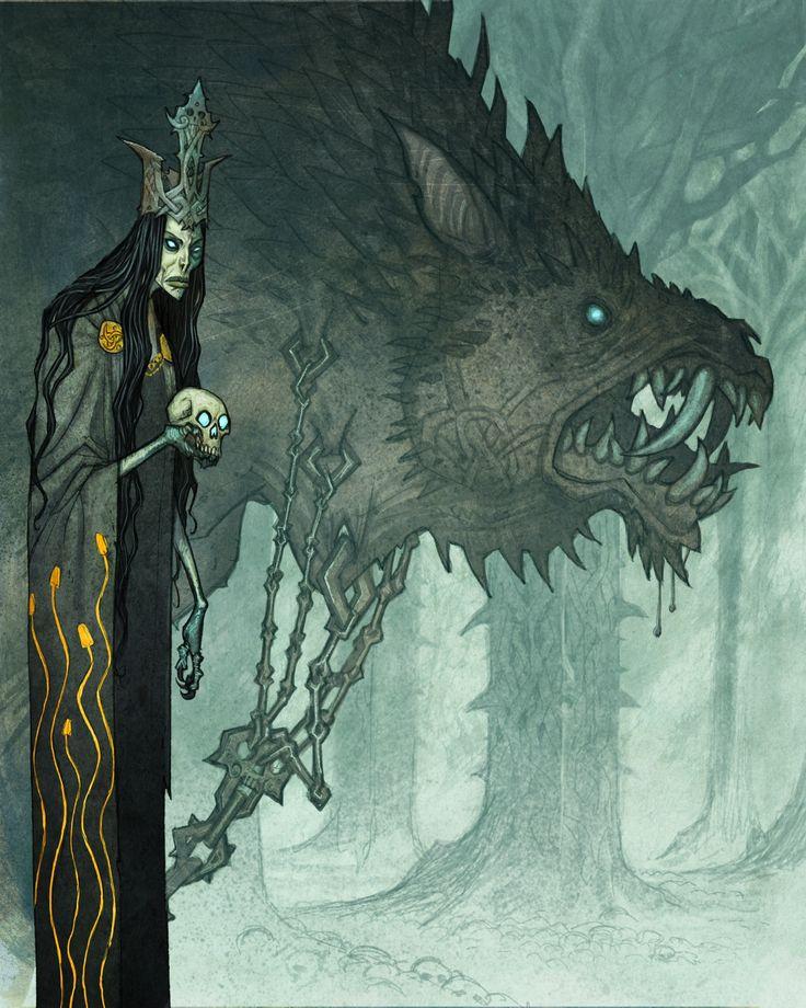 ::guardian of the keys to the gates of the underworld:: ArtStation - Hel, Johan Egerkrans