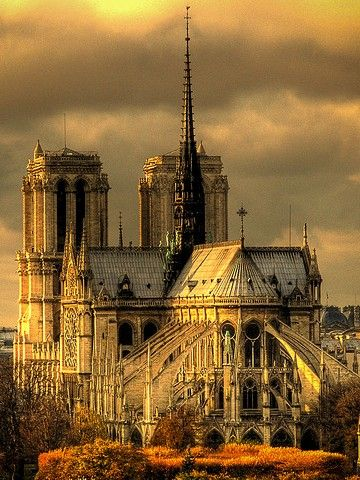 Notre Dame, Paris. I want to....sketch it...and the gargoyles...gothic church architecture is amazing