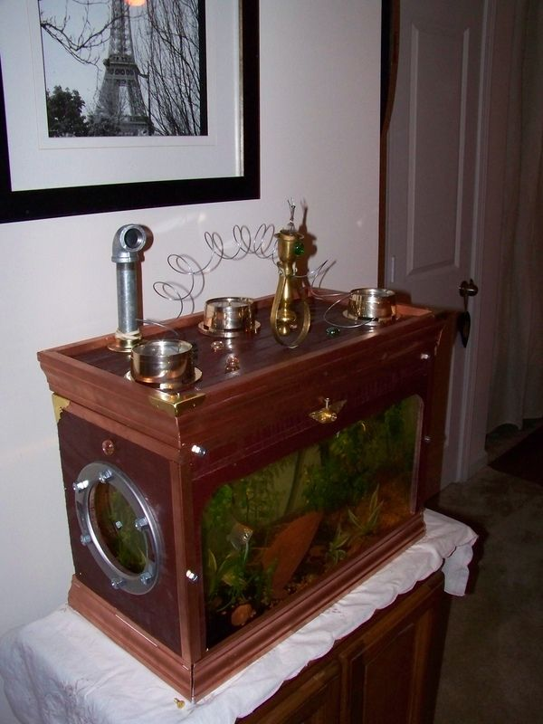 Steampunk Aquarium .... not exactly office but certainly a welcome addition to the overall feel.