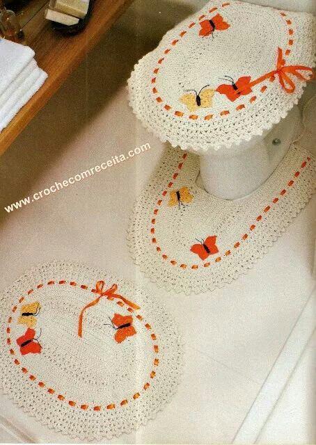 Juego de baño en crochet