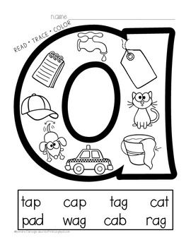 vowel coloring pages - photo#35