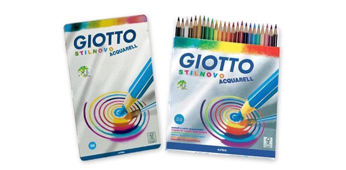 Lápis de cor Giotto Stilnovo Acquarelli (aguareláveis) 12 e 24 cores