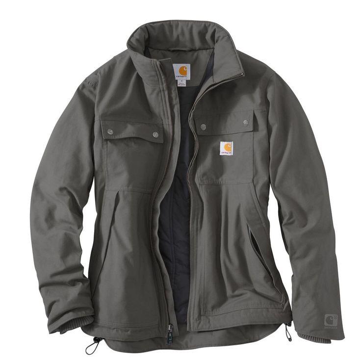 Carhartt Men's Charcoal Quick Duck Jefferson Traditional Jacket