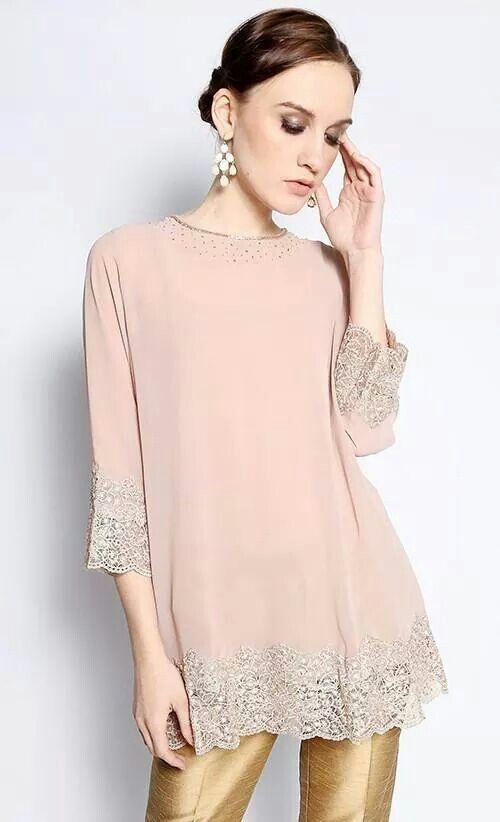Malaysia Baru Baju Kurung Simple Beaded N Can Wear With Skirt Or