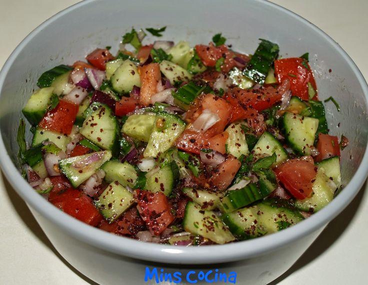 Ensalada turca del pastor - Çoban Salatası