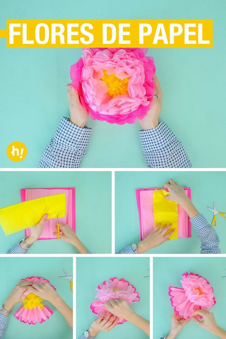 3 Formas De Hacer Flores Con Papel De Seda Manualidades Sobres