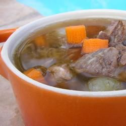 how to make beef soup with prime rib bones