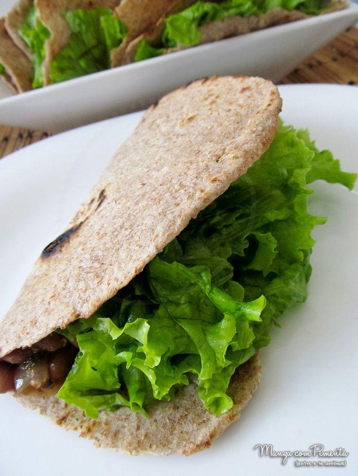 Tacos Integral Mexicanos, para ir a receita, clique na imagem para ver no Manga com Pimenta.