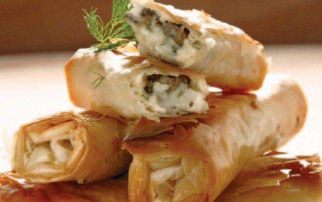 Μπουρεκάκια με μπεσαμέλ και μανιτάρια - iCookGreek