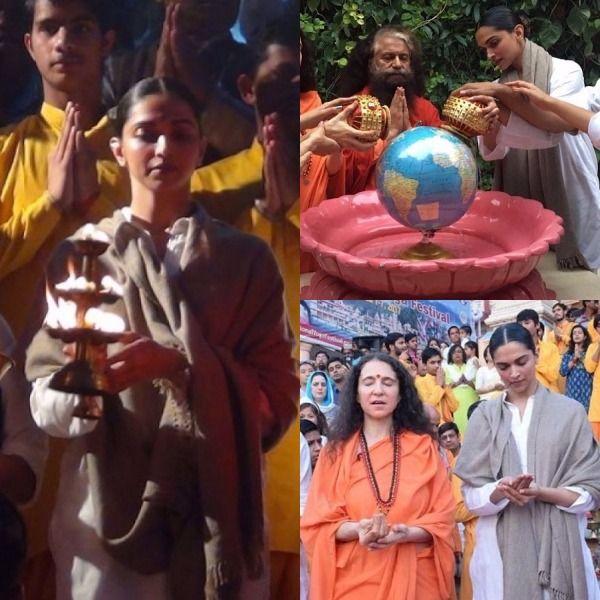 Deepika Padukone visits Parmarth Niketan Ashram; offers prayers and performs Ganga Aarti – view pics #FansnStars