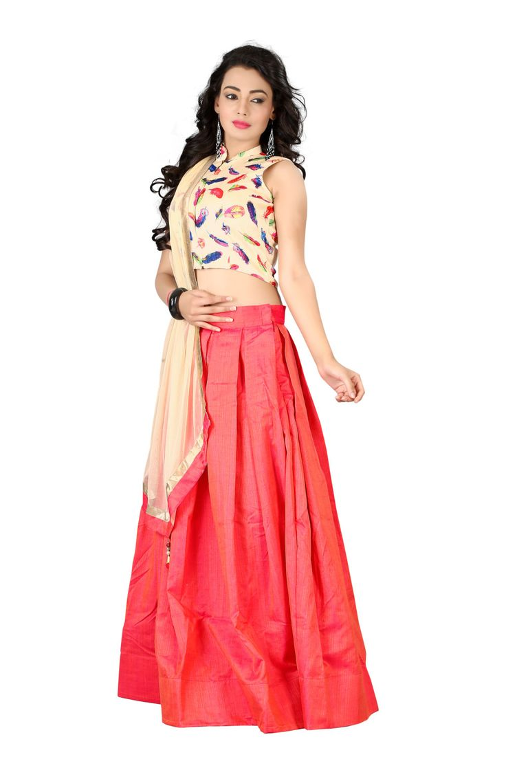 New Arrival Pink Kashmiri Silk Feather Crop Top With Skirt Summer Collection By TheEmpireHub by TheEmpirehub on Etsy