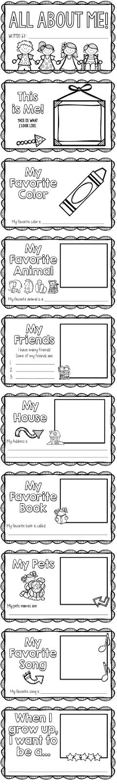 Another TpT pack posted! This one is inspired by one of my best sellers: my All About Me book ! I made it last year as a All About Me unit f...