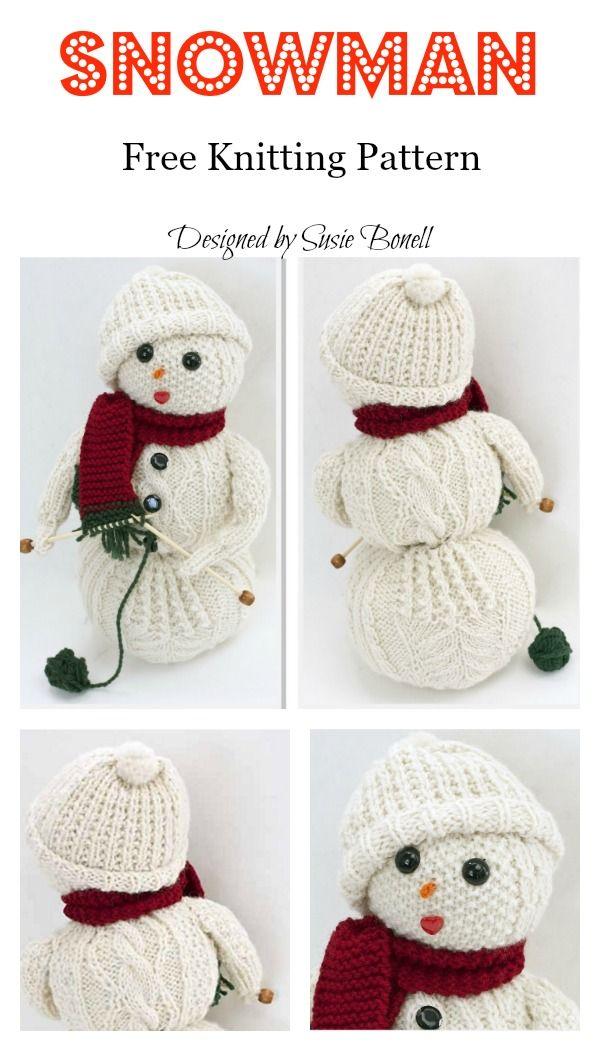 Amigurumi Snowman Free Knitting Pattern | Knitting | Knitting ...