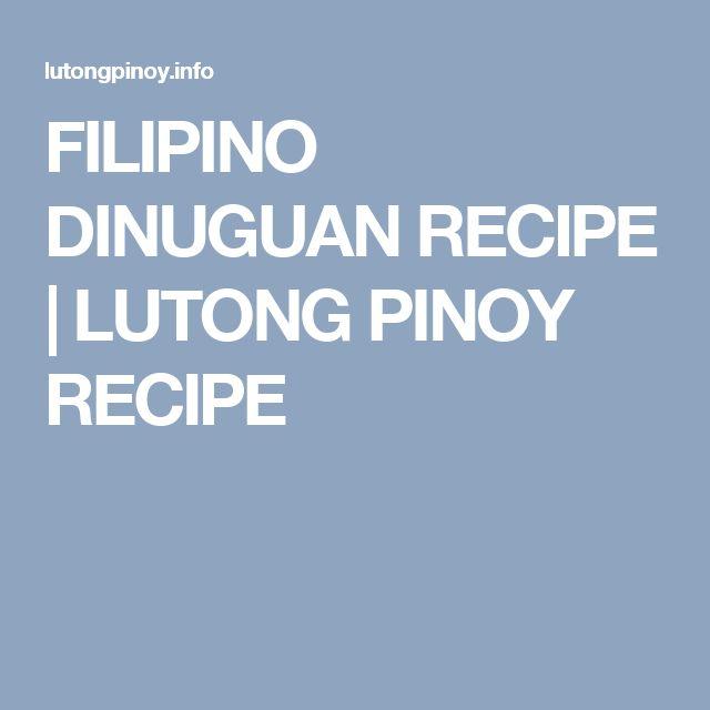 how to make dinuguan panlasang pinoy