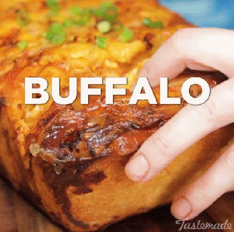 Buffalo Chicken Pull-Apart Bread - GIF on Imgur