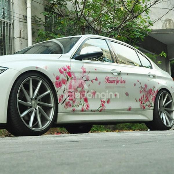 Beau Beautiful Cherry Blossoms Environment Material Creative Car Sticker