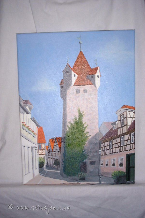 Herzogenaurach. Akrylmålning 30cm * 40 cm.