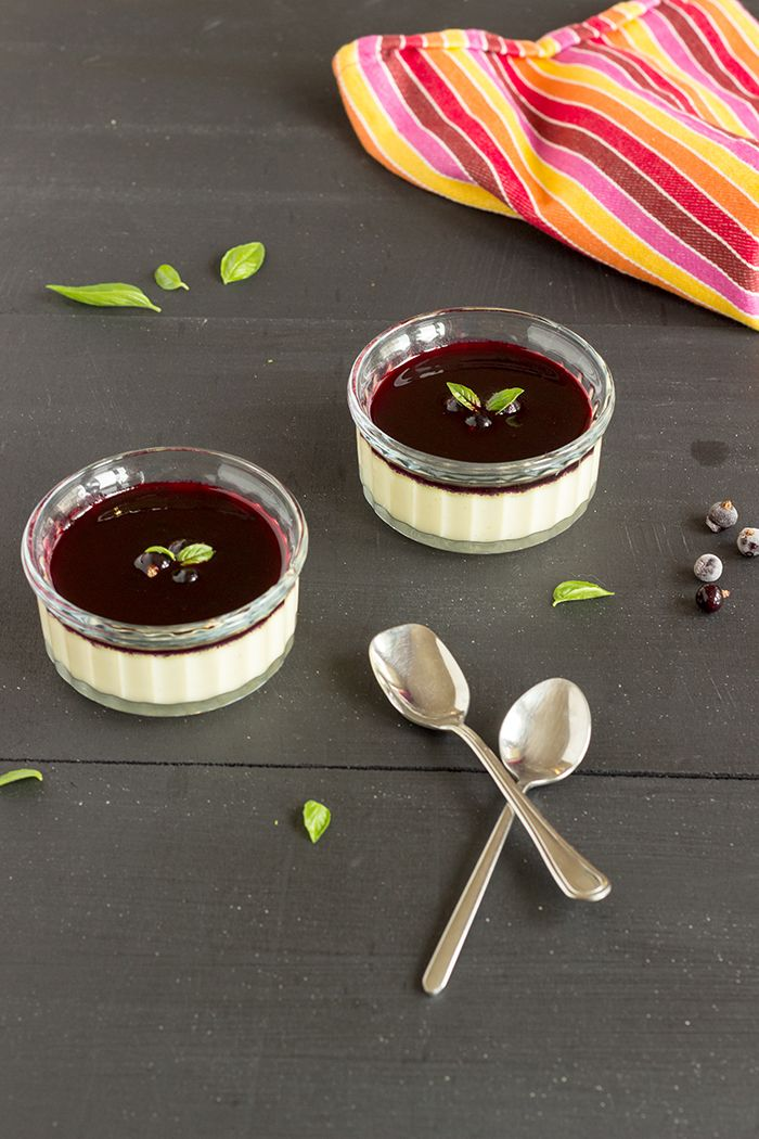 Vanilla custard recipe with home made blackcurrant coulis