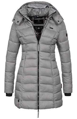 90de4f0abf1a40 Marikoo-Herbst-Winter-bergangs-Steppmantel-Jacke-Mantel-gesteppt ...