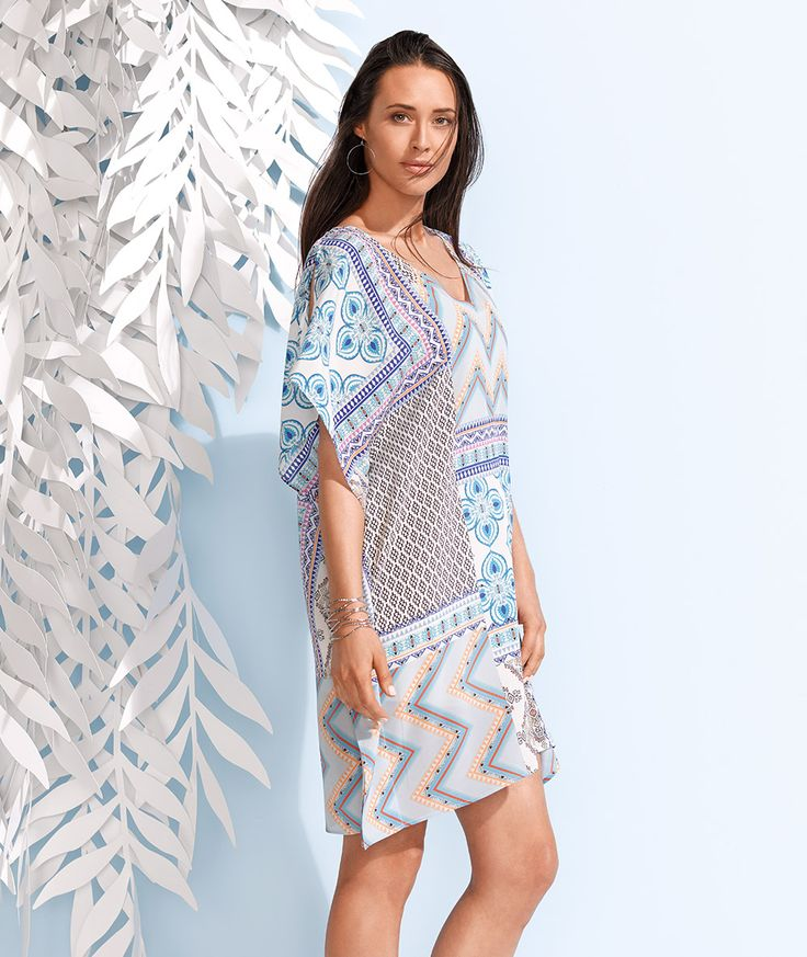 Simple meets striking with the kaftan dress. Light and airy and as effortless as it is elegant, the kaftan dress will have you feeling fashionably at ease for any summer occasion.