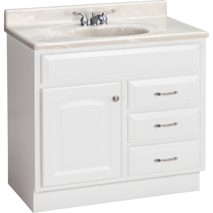 shop project source 36 in white traditional bathroom on lowes vanity id=17104