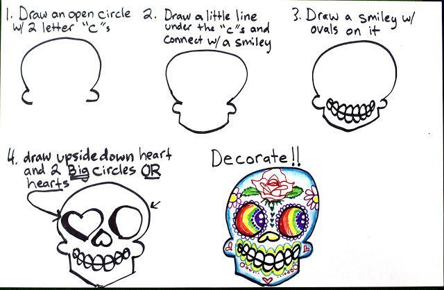 Art Tutorial - How to Draw a Sugar Skull - smART Class