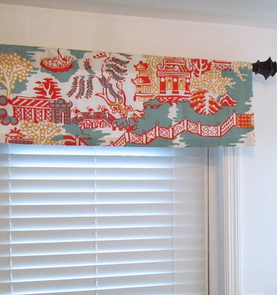 Thibaut Asian Window Valance  Enchantment by supplierofdreams