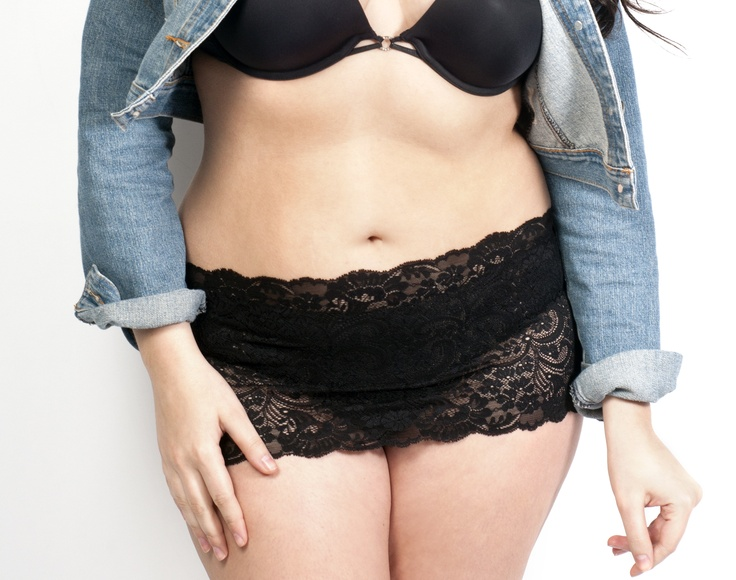Plus Size Bikini Coverage...The Lace Camiband available in every nautical color. Take those bikini bottoms out from the bottom of your drawer!