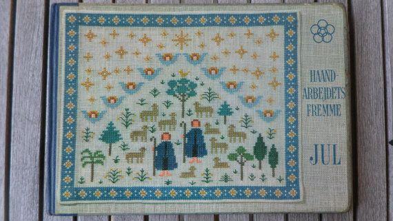 Vintage Deense cross stitch breiboek / kerst / Gerda Bengtsson / Ida Winkler