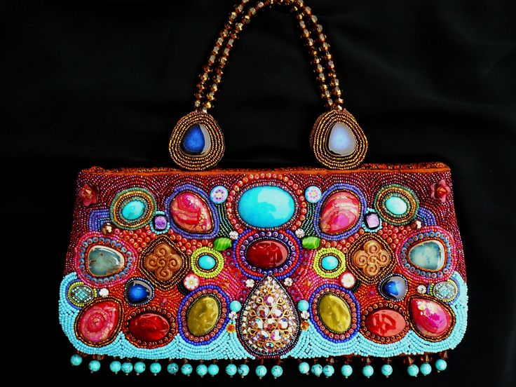 First beaded handbag I made! www.fariasiddiqui.com