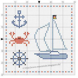 272 best images about point de croix grilles gratuites free pattern cross stitch on pinterest - Grille point de croix mer ...