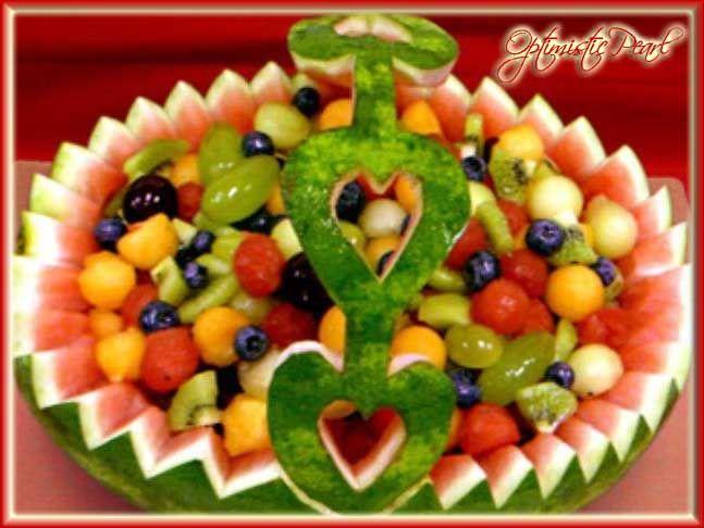 Watermelon Basket Fruit Carving