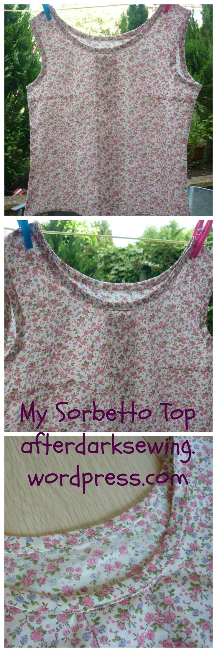 My Sorbetto top from Colette Patterns, in a summery floral print :)