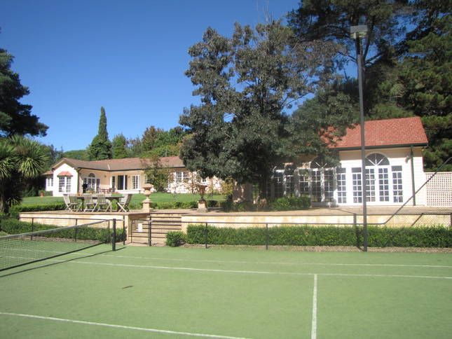 Tennis court/pool house/main residence: Millewa Southern Highlands in Bowral