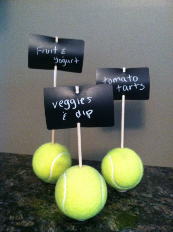 Tennis Ball Chalkboard Signs by flair30seven on Etsy, $8.37----even I could make this!